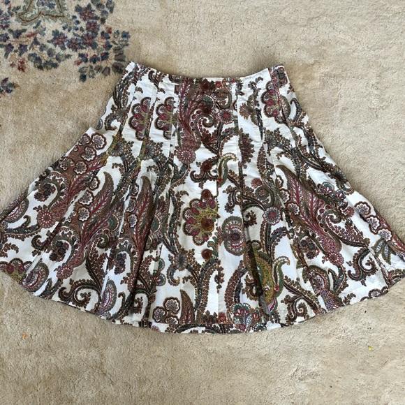 CAbi Dresses & Skirts - Cabi Paisley A-Line Knee Length Skirt Size 10